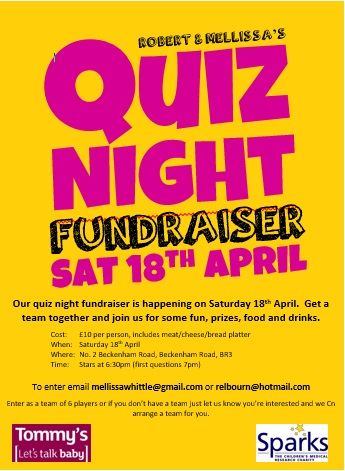 Quiz Night Leaflet